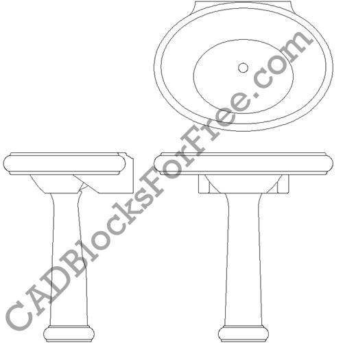 CADBlocksForFree.com: Bathroom Sinks Uploaded