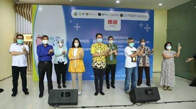 KOLABORASI DENGAN APINDO BANTEN, Hippindo Gelar Vaksinasi Covid-19 di Tangerang Raya | PikiranSaja.com