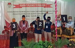 Paslon IDP-Dahlan Nomor Urut 3, Syafa'ad Nomor Urut 2, dan Iman Nomor Urut 1