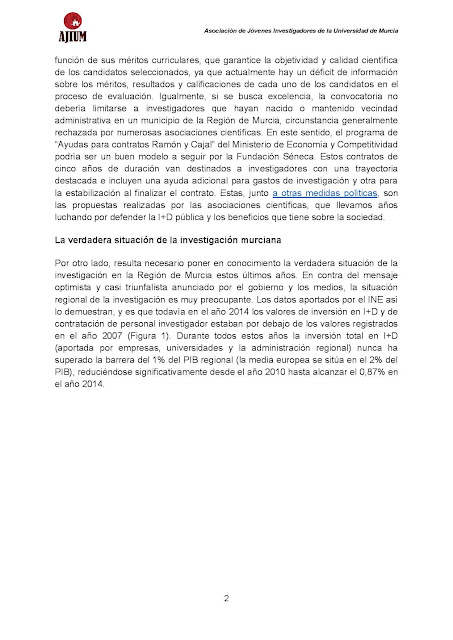 Texto reivindicación investigación Murcia AJIUM.