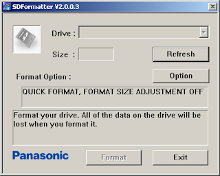 Panasonic SD Format tool,format memory card,sd memory card formatter,sd memory card software tool,format,tool,free,software,panasonic,program,sd,memory,card,