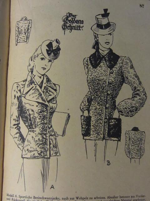 1940s Lutterloh patterns German WWII fashion