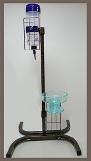 pet water bottle and bowl rack, shelf