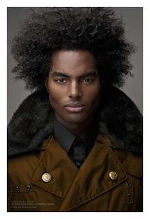 Medium length afro