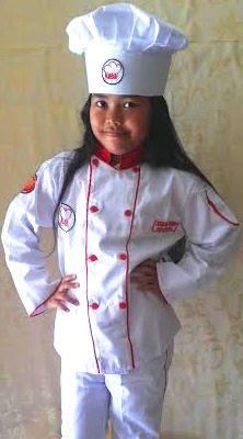 Kostum Koki,Kostum Cheff,Baju masak anak,Kostum Junior Master Cheff