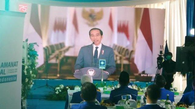 Beri Sambutan di HUT PAN, Jokowi: Ada Pihak Yang Terusik Jika Dilakukan Perubahan Besar