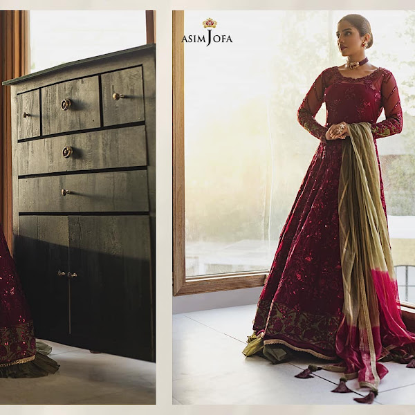 Dure Fishan and Sonya Hussyn features in Asim Jofa chiffon Collection 2021