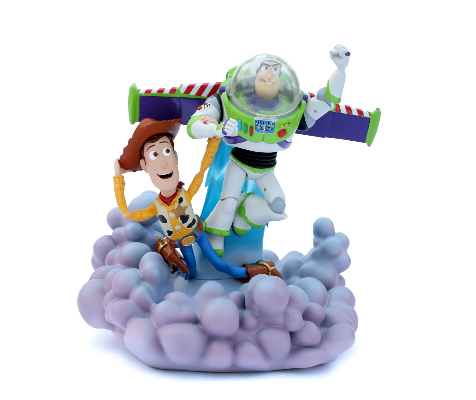 Toy Story Buzz & Woody Deluxe Light-Up Figurine Sculpture Ron Cohee