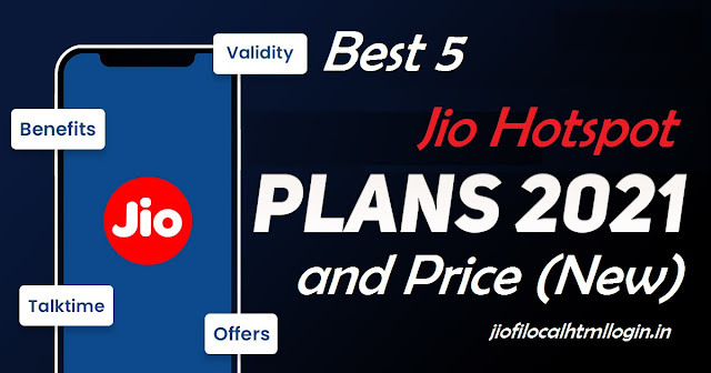 5 Best Jio Hotspot Plans and Price