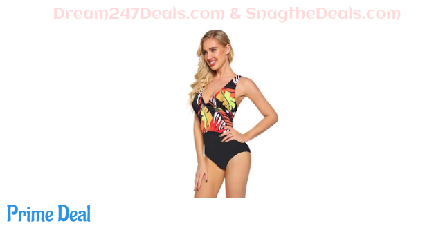 80% off Floral Print One Piece Swimsuit