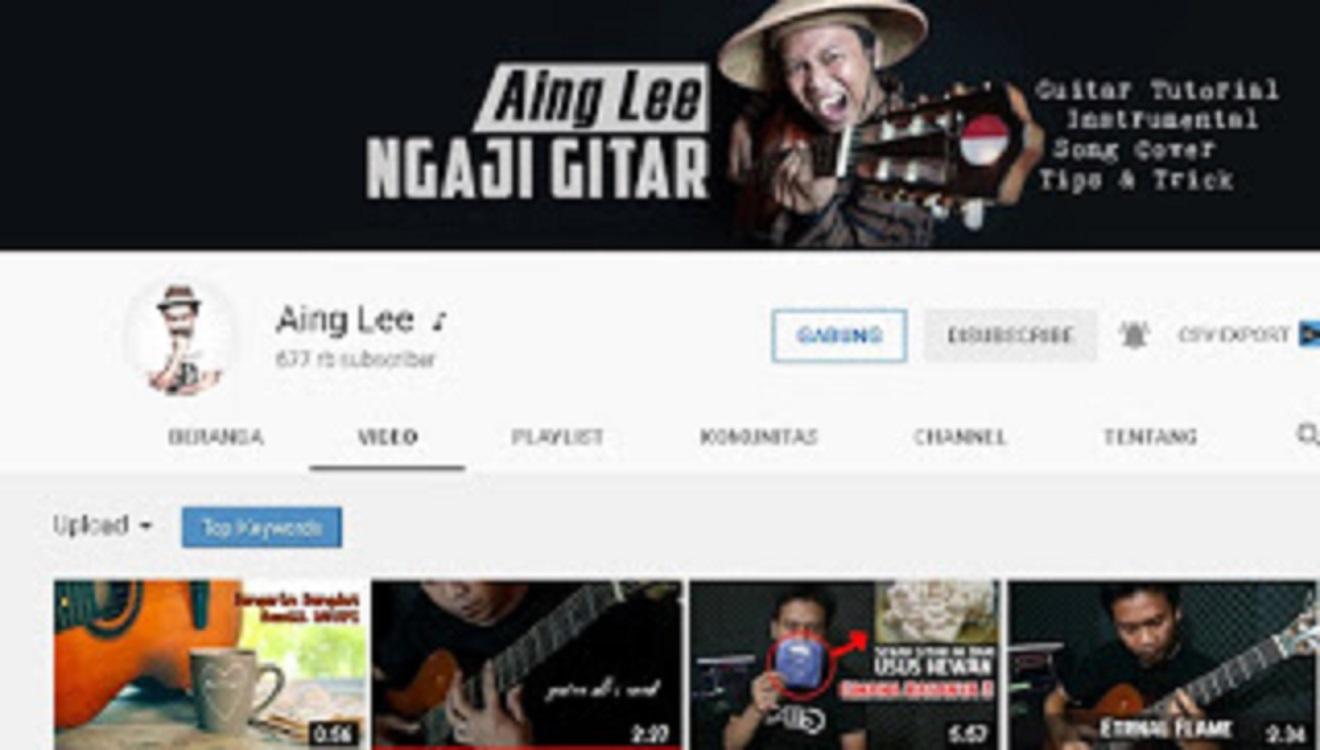channel YT belajar gitar