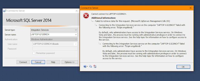Sql Server Integration Service Erişim Engellendi Hatası