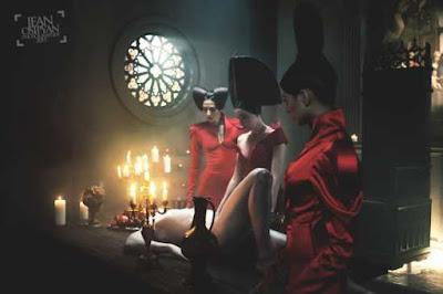 jan osipyan for schwarzkopf professional russia, women in red dress, femdom, art