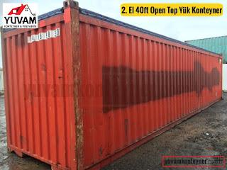 40lık üstü açık yük konteyner