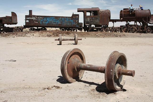 El Cementerio de Trenes en Bolivia