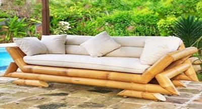 Sofa bambu untuk ruang santai