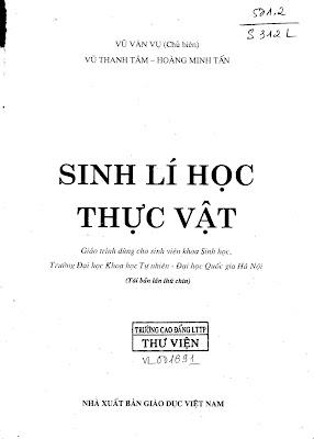[EBOOK] SINH LÝ HỌC THỰC VẬT, VŨ VĂN VỤ (CHỦ BIÊN) ET AL., NXB GIÁO DỤC VIỆT NAM