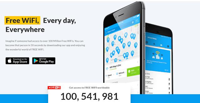 أفضل تثلاث تطبيقات للوصول إلى شبكات الواي فاي القريبة منك wifi finder