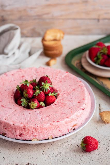 Nuage glacé aux fraises