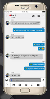 BBM Dark Os V3.0.1.25 Apk Terbaru