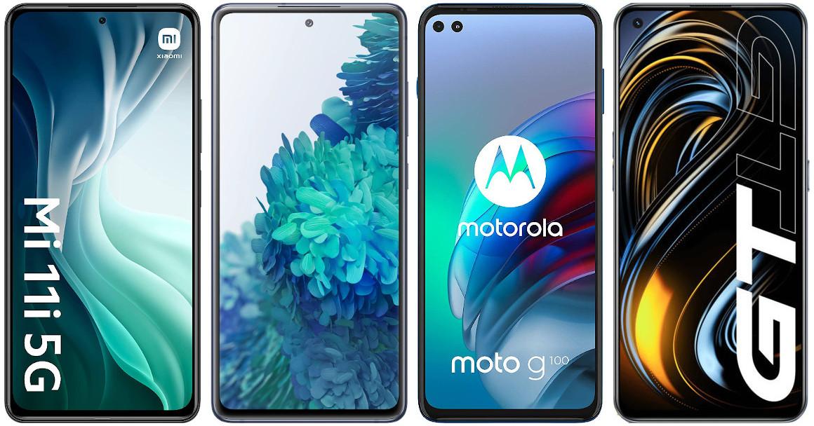 Xiaomi Mi 11i vs Samsung Galaxy S20 FE 5G vs Motorola Moto G100 vs Realme GT