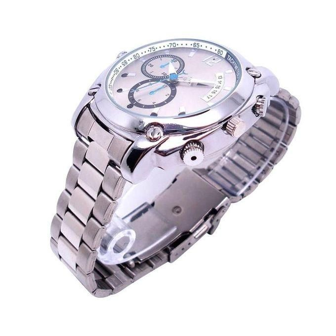 Spy Watch Hd Camera And 1080p Video Recorder 8gb Waterproof - Silver459