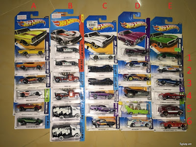 thanh lý xe Hotwheels 3