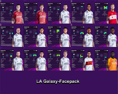 PES 2020 La Galaxy Facepack by I3ens