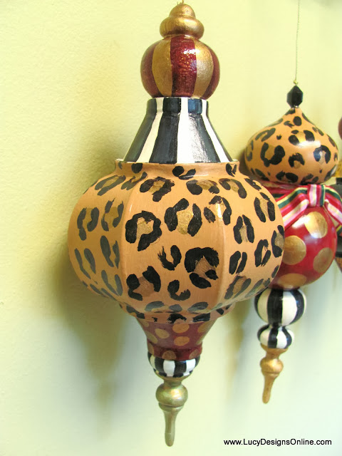 huge paper mache animal print ornament