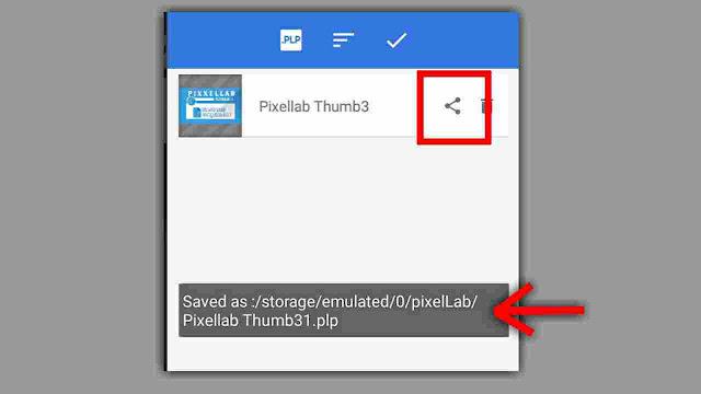 cara membagikan file plp pixellab