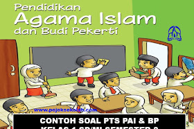 Download Soal PTS Semester 2 PAI Dan BP Kelas 1 SD/MI Kurikulum 2013