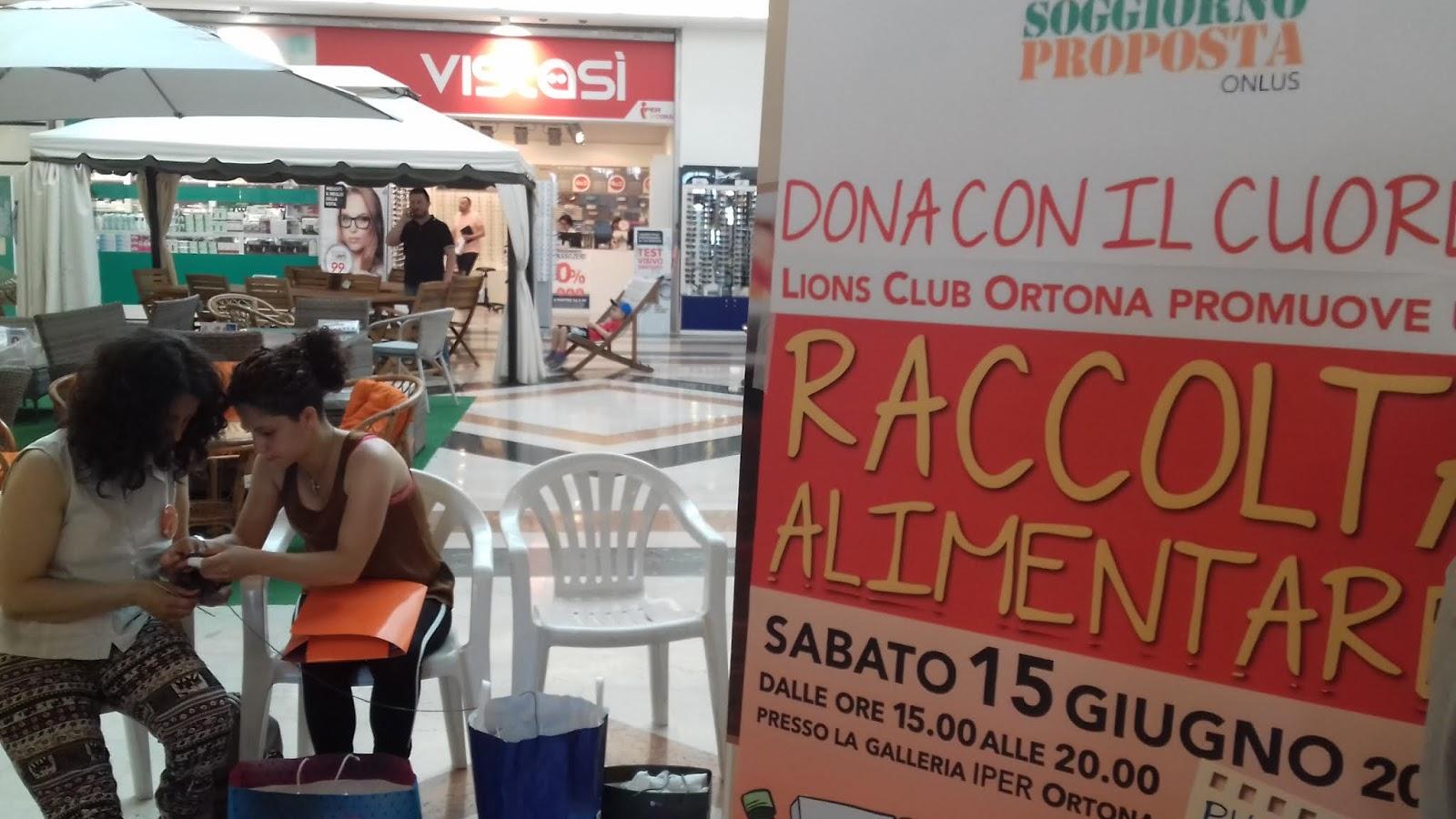 LIONS CLUB ORTONA, Raccolta alimentare in favore Soggiorno Proposta ...
