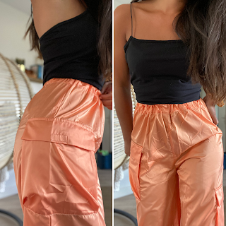 detail jogging oversize orange femme luxe