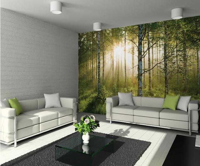 Jak optycznie powiększyć pokój? Fototapeta