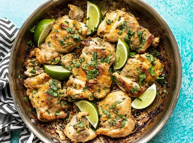 Cilantro Lime Chicken Thighs #healthy #paleo