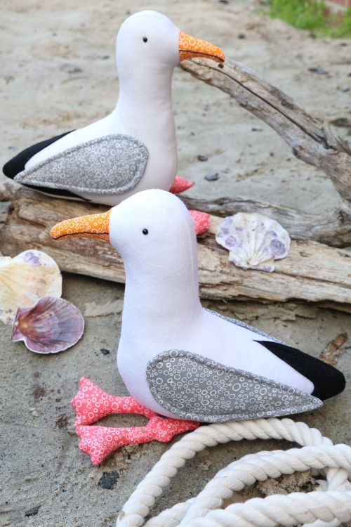 Seagulls Sewing Pattern Plush