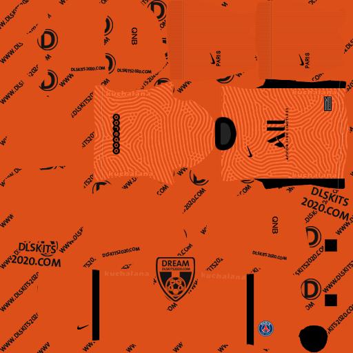 Paris Saint-Germain kits 2020-2021 Nike - Kits Dream League Soccer 2020 (Home Goalkeeper)