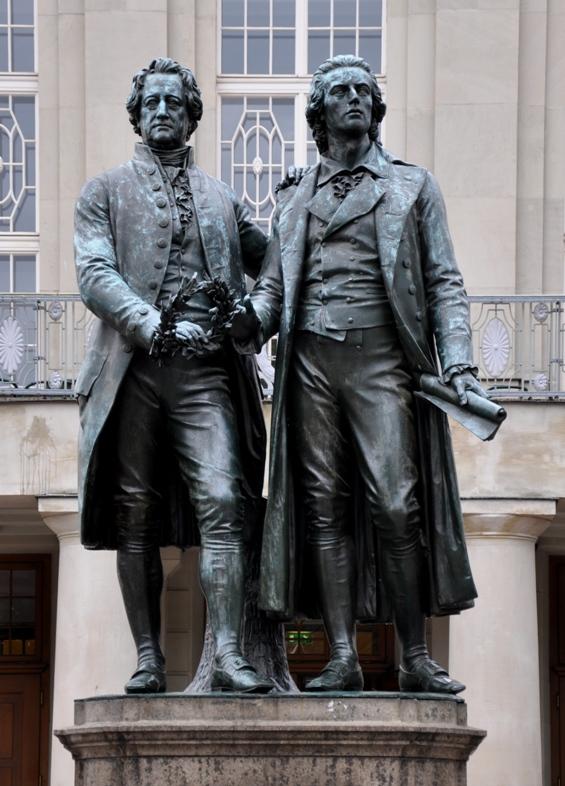Goethe and Schiller, Weimar poets