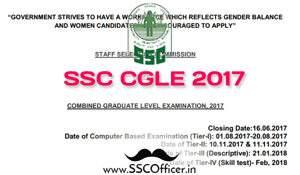[PDF] SSC CGL 2017 Official Notification- Apply Now - SSC Officer