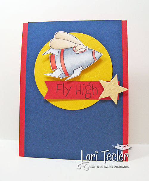 Fly High card-designed by Lori Tecler/Inking Aloud-stamps from The Cat's Pajamas