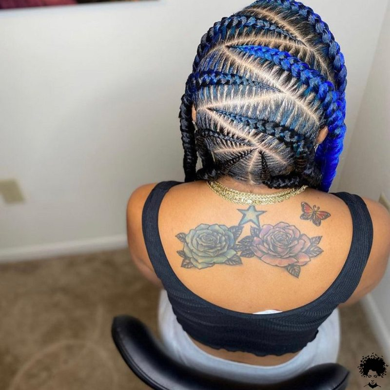 Interesting all back braiding and Suku style to try this season