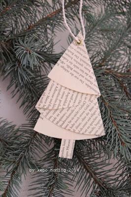 DIY Step by Step Tutorial für selbst gebasteltegefaltete Bäumchen aus alten Buchseiten, Weihnachtsdekoration auf dem Südtiroler Food- und Lifestyleblog kebo homing