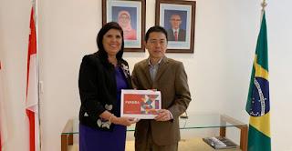 Lígia discute na Embaixada de Singapura investimentos para a Paraíba