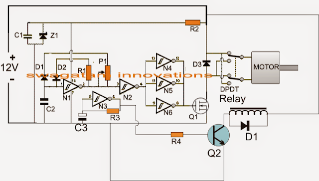 The PWM/Flip Flop Controlled Motor Driver