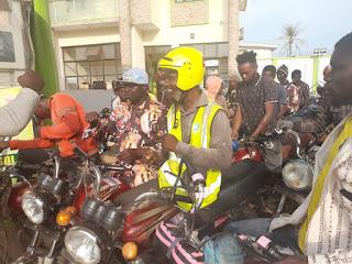Olumide and Stephanie Aderinokun Foundation Donates Free Fuel To Okada Riders In Ogun