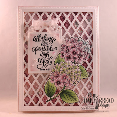 Our Daily Bread Designs Stamp/Die Duos: In My Heart, Paper Collection: Romantic Roses, Custom Dies:  Pierced Rectangles, Lattice Background, Tag Trio