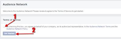 Monetisasi Blog Dengan Menampilkan Iklan Dari Facebook - Konfirmasi TOS