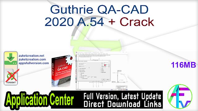 Guthrie QA-CAD 2020 A.54 + Crack