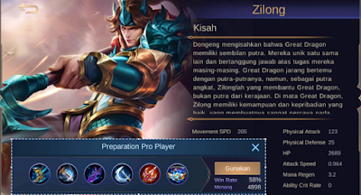 Build Zilong Savage Damage 3000