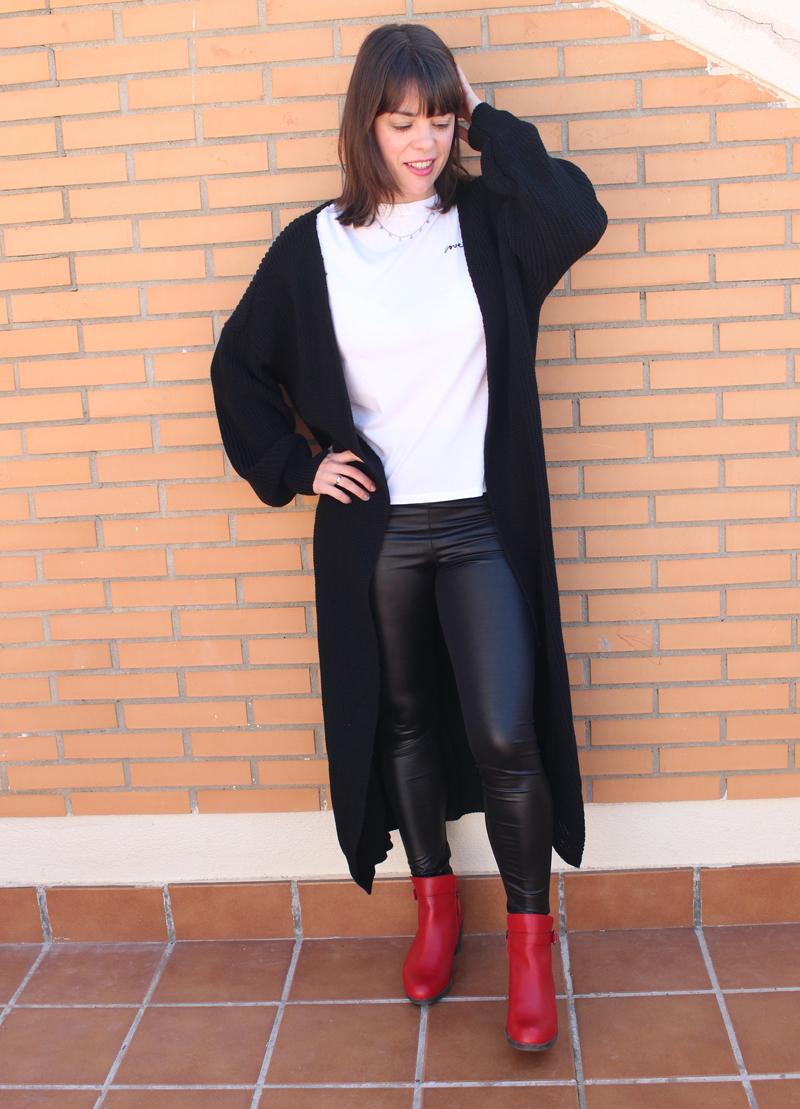 Cardigan negro largo